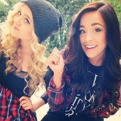 Do u know these awesome twins? They are Megan and Liz!! They are new musicians that you have to listen too. Oh and @CassLovesss1D she's on replay;)