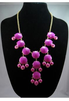 Bubble Bib Necklace in Pink