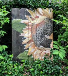 Garden Fence Art, Garden Mural, Tole Painting, Painting On Wood, Fence Painting, Sunflower Art, Pallet Art, Outdoor Art, Garden Crafts