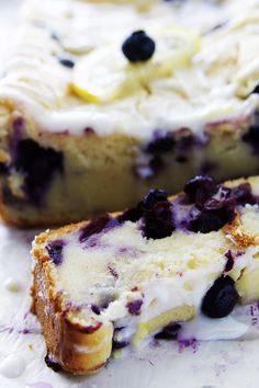 Lemon Blueberry Yogurt Bread | Fitness Food Diva