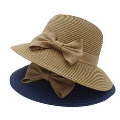 60b84bac197f6 Fashion Vintage Style Linen bowknot summer Straw Hats Women s Church  Kentucky Derby Sun Bucket Style sun beach Hat dome cap