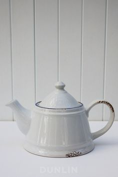 Antibes Blue and White Ceramic Teapot