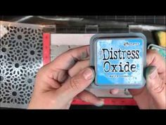 Ombre Distress Oxides with Stamps and Stencils - YouTube