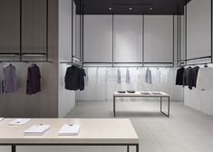 Nendo's store interiors for Theory are modelled on road systems