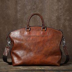 Top Grain Leather Briefcase for Men, Leather Business Bag GLT024