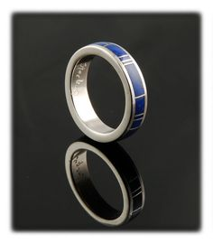 All Round Inlay Band Ring with Lapis