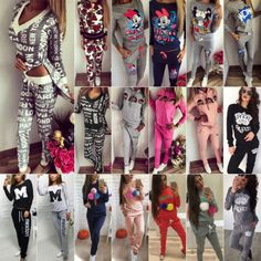 2pcs women tracksuit #jogger hoodie #sweatshirt pants yoga #sport wear casual sui,  View more on the LINK: 	http://www.zeppy.io/product/gb/2/381839415090/