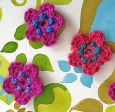 Getting Stitched on the Farm: Crochet Flower Tutorial