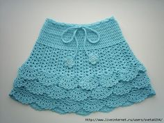 Crochet skirt for girls | Entries for category Skirts crochet for girls | Blog…