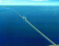 Danyang–Kunshan Grand Bridge in China - the longest bridge in the world - 102 miles!