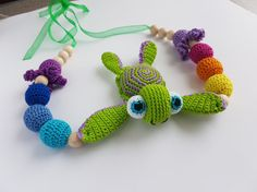 crochet nursing necklace teething necklace baby teething toy