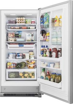 Frigidaire - Gallery 20.5 Cu. Ft. Frost-Free 2-in-1 Upright Freezer or Refrigerator - Stainless Steel - AlternateView13 Zoom