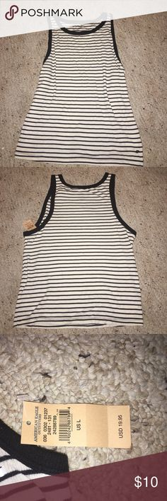 American Eagle Black & White striped tank!! Brand new! Size Large American Eagle Outfitters Tops Tank Tops