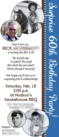 60th Birthday Invite