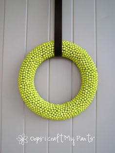 """Modern wreath. The blog name that this tutorial originated from is """"Oops I Craft My Pants""""! Hahahhaa!"""