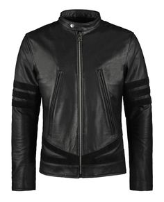 Logan - Biker jacket inspired by the leather jacket worn by Wolverine in the X:Men movies complete with armour protection and removable vest. 1.2mm Calf leather. The highest Italian quality. SoulRevolver.com