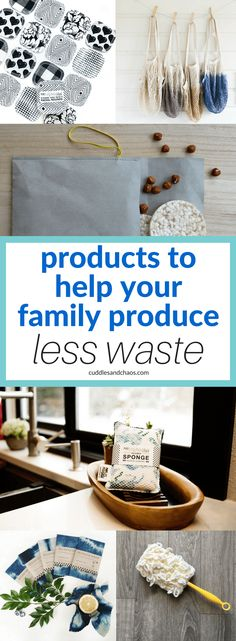 products to help your family produce less waste #etsyfinds #ecofriendly #zerowaste