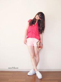 xoxo hilamee t-shirt shoes bag sunglasses jewels shorts