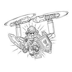 Leuk voor kids kleurplaat ~ Lego Nexo Knights - ridder Clay