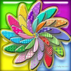 Mosaic 3D Flower