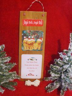 Golden Retrievers Dog Christmas Sign by GTsChristmasVillage, $12.00