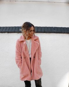 Pink Teddy coat from RiverIsland