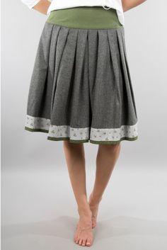 Rockmacherin Trachtenrock Hoagascht grau Folk Fashion, Womens Fashion, Tutu Rock, Cooler Look, Textiles, Refashion, Dress To Impress, Plus Size Outfits, What To Wear