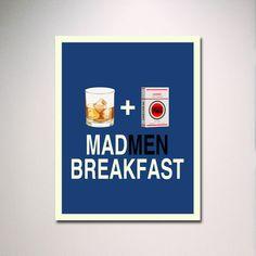 MADMEN BREAKFAST Poster Print / Minimalist by EntropyTradingCo, $15.00