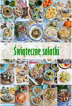 Świąteczne sałatki Cooking Recipes, Healthy Recipes, Holiday Festival, Bento, Grilling, Salads, Lunch Box, Food And Drink, Health Fitness
