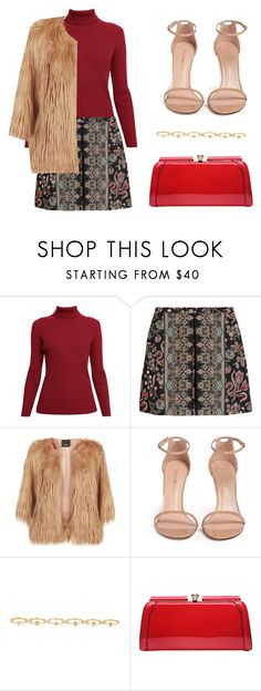 """Untitled #180"" by mindongalsxy ❤ liked on Polyvore featuring Rumour London, Valentino, Pinko, Stuart Weitzman, Maria Francesca Pepe and MKF Collection"
