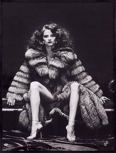 Charlotte Rampling as Venus in furs by Helmut Newton