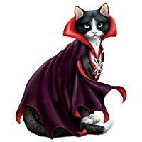 Count Cat-ula Halloween Cat Figurine