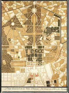 Map of Versailles, early 18th C