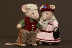 "Darby & Joan ver 2 | 4"" tall hand knitted character SOLD 