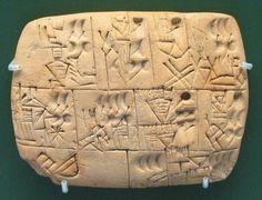 Cuneiform beer allocation tablet
