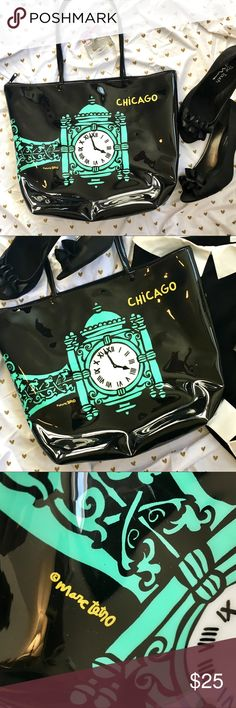 Marc Tetro Chicago Tote I really don't want to sell this bag - it's so completely adorable. But I can't keep everything! It's in excellent condition. Great colors. As street cute as it gets. Zipper closure. Marc Tetro Bags Totes