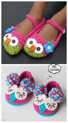 Crochet Owl Slippers Free Crochet Patterns and Paid