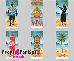 Bright and colourful themed banners to hire, perfect for your beach party. Hawaiian Party Decorations, Hawaiian Decor, Blue Hawaiian, Beach Fun, Beach Party, Party Props, Party Themes, Hawaiian Cocktails, Colorful Umbrellas