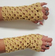 Crochet Wrist Warmers Fingerless Gloves by KnotJustCrochetHere