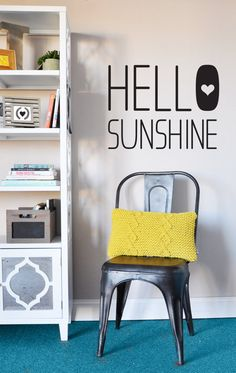 Hello Sunshine   WALL DECAL by TheLovelyWall on Etsy, $32.00