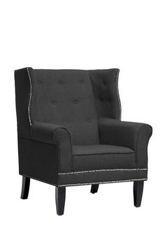 Kyleigh Grey Linen Modern Arm Chair by Wholesale Interiors on @HauteLook