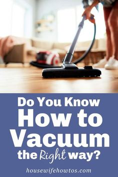 Most people don't vacuum properly and it shows. Dingy carpets. Black lines on the carpet edges. Dust in the air. A musty smell. You can fix all those problems and more if you vacuum the right way. #vacuuming #floorcleaning #cleaning #cleaningadvice #housewifehowtos Cleaning Solutions, Cleaning Hacks, Did You Know, Vacuums, Household, Carpets, How To Plan, Advice, People