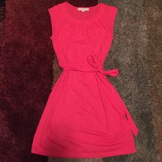 Selling this Hot pink dress in my Poshmark closet! My username is: loulou222. #shopmycloset #poshmark #fashion #shopping #style #forsale #LOFT #Dresses