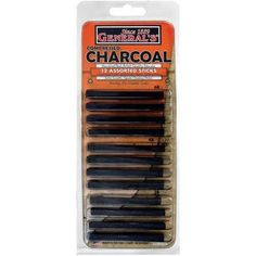 """General Pencil Extra Smooth Square Compressed Charcoal Assortment, Assorted Tip, 0.25"""" x 3"""", Black, Pack of 12 - Walmart.com"""