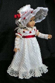 "Jane Austen Regency Gown for 18"" American Girl Doll Caroline OOAK Luminaria | eBay"