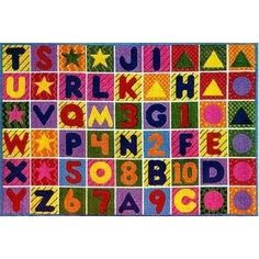 Fun Rugs Supreme Numbers & Alphabet Rug - TSC - 137 - Synthetic Rugs - Area Rugs by Material - Area Rugs Kids Area Rugs, Area Rug Runners, Alphabet And Numbers, Throw Rugs, Cool Rugs, Rug Making, Rugs On Carpet, Carpets, Rome