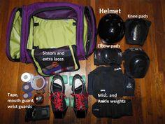 Aeronaut as roller derby gear bag