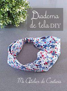 Fabric headband for girl Diy. Step by step tutorial Hair Turban, Fabric Headbands, Diy Hair Accessories, Diy For Girls, Diy Hairstyles, Scrunchies, Diy Clothes, Hair Bows, Bandanas