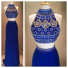 Cheap evening gown dresses, Buy Quality evening gown dress pattern directly from China arabic evening gowns dresses Suppliers: Arabic Evening Gowns Dresses Abendkleider Lang Sleeveless Pattern High Neck Long Evening Dress 2017 New Arrival Formal Dresses Beaded Prom Dress, Backless Prom Dresses, Homecoming Dresses, Prom Gowns, Prom Dreses, Dress Prom, Gorgeous Prom Dresses, Royal Blue Prom Dresses, Beauty