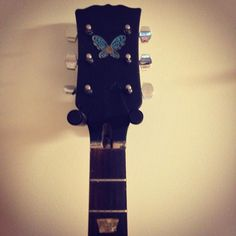 Headstock painted, old nut removed